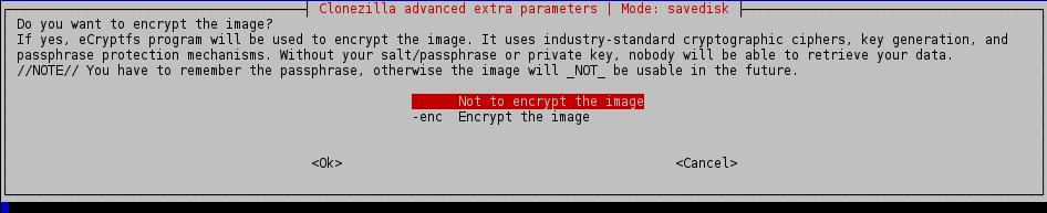 not to encrypt image