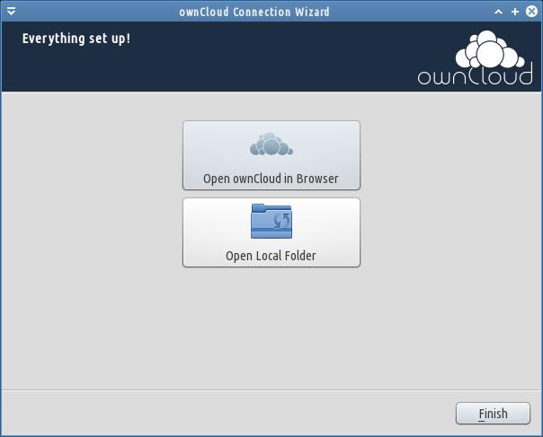 owncloud sync selesai