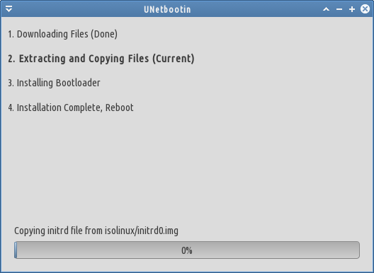 proses install di unetbootin
