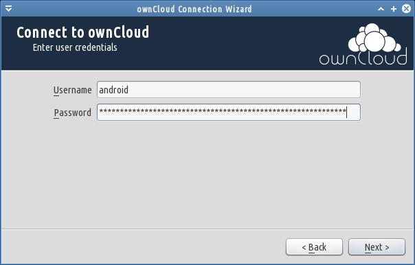 user password owncloud