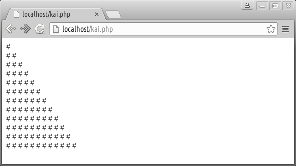 php tanpa looping di browser