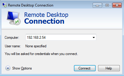 remote desktop connection win7