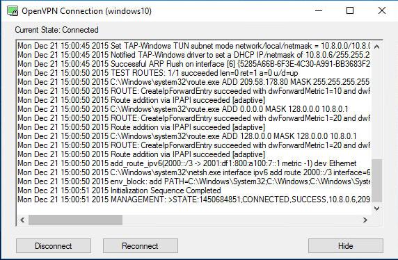 openvpn ipv6 windows10