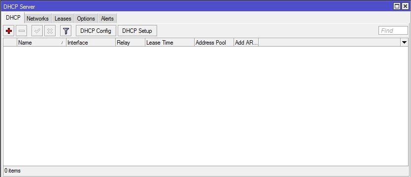 dhcp server mikrotik winbox