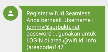 sms daftar wifi.id berhasil