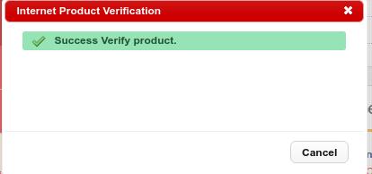 verifikasi sukses