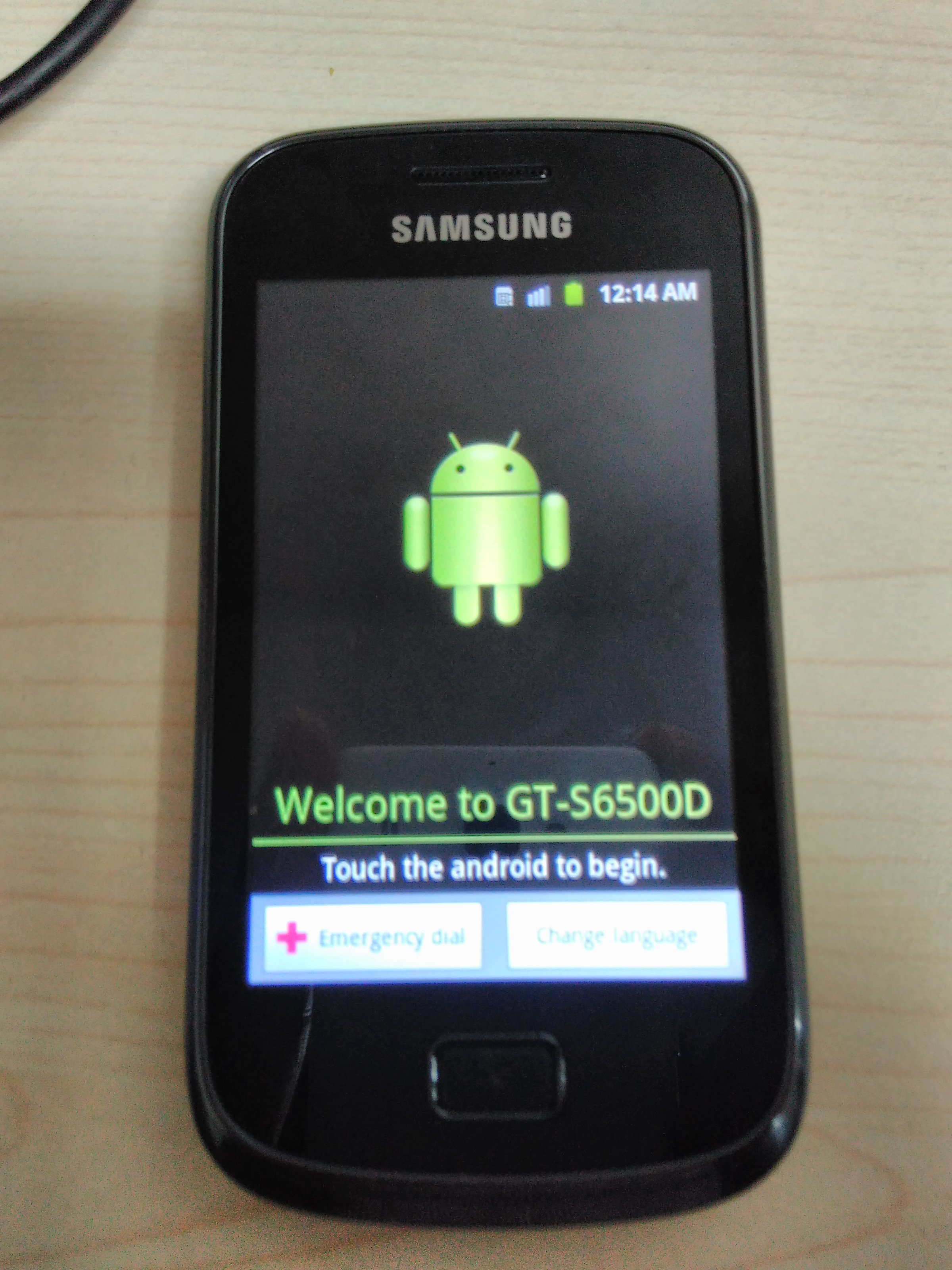 Install awal android gt-s6500d