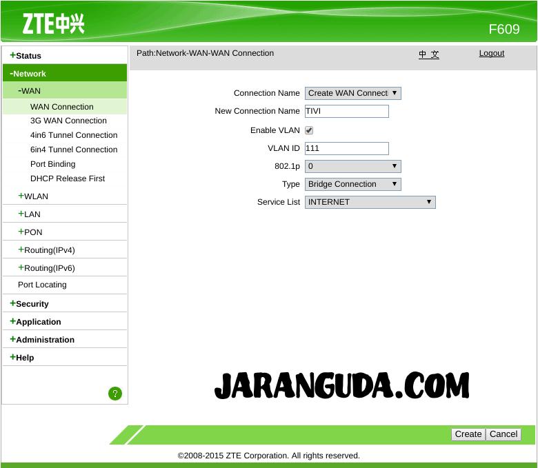 Akses UseeTV Indihome via Wireless ZTE F609 « Jaranguda com