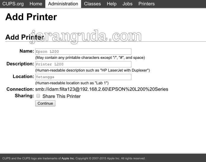 Fedora epson l200 keterangan printer