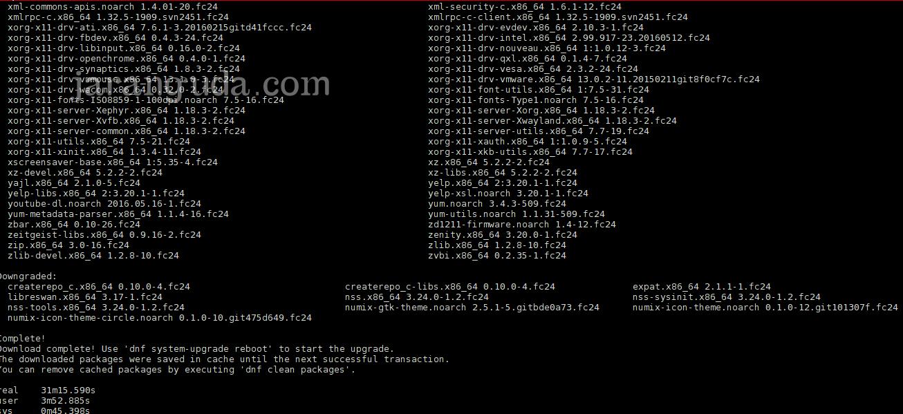 upgrade Fedora 23 ke Fedora 24