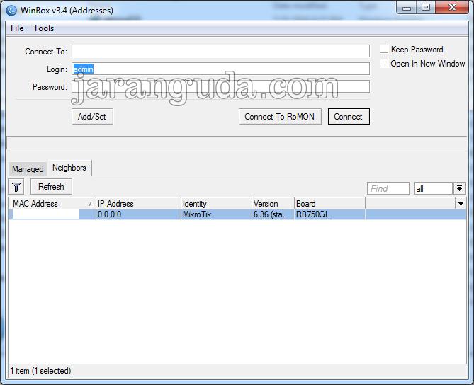 Mikrotik winbox 3.4