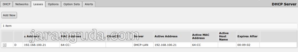 DHCP dari Mikrotik langsung
