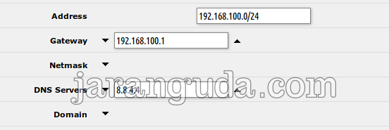 default gateway mikrotik