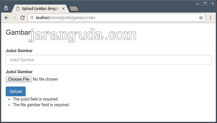 Membuat Upload Gambar Dengan Laravel 5.2 « Jaranguda.com