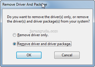 remove driver and package