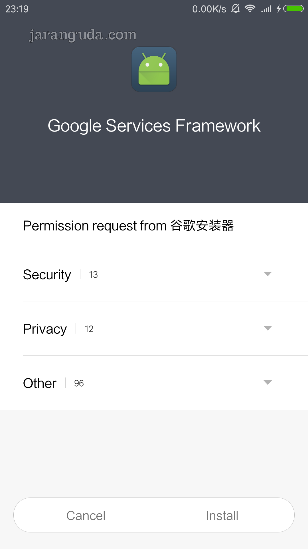 how to install google play framework
