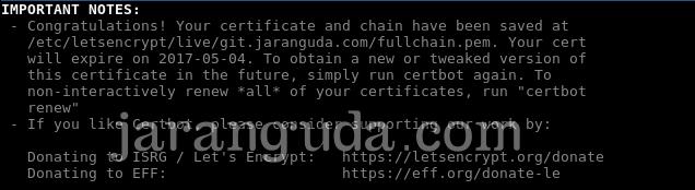 letsencrypt ssl sukses