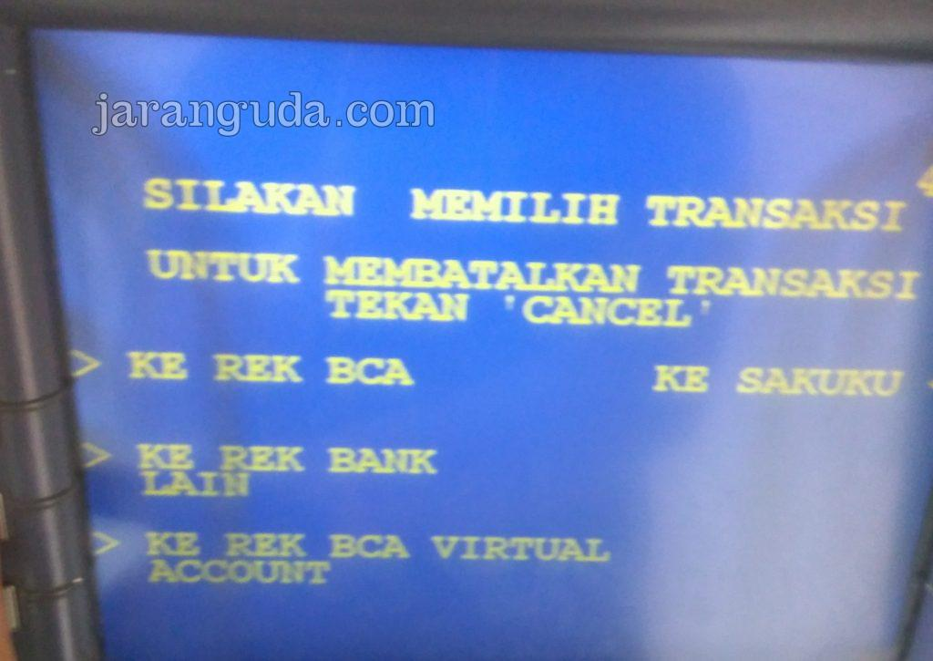 ke rekening bank lain - ATM BCA