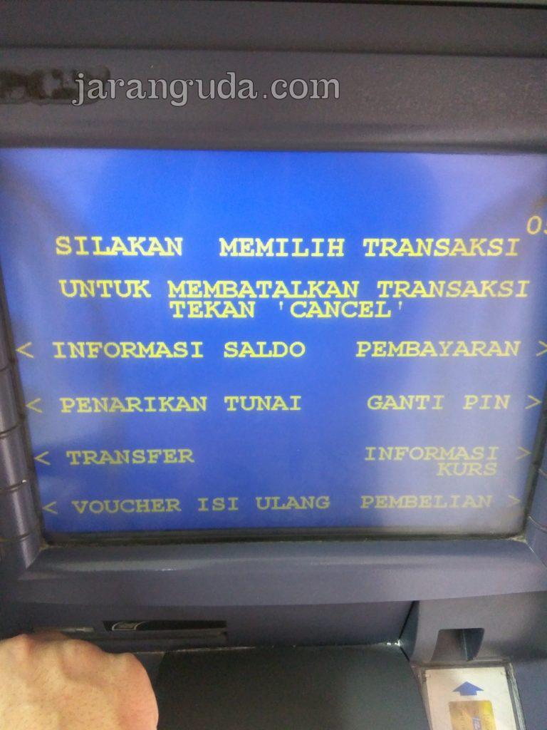 pilih transfer ATM BCA