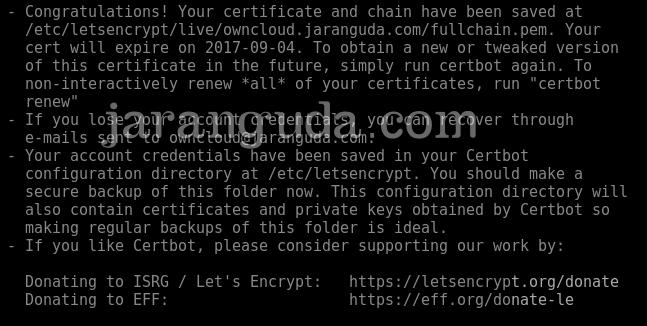 SSL letsecrypt debian 8