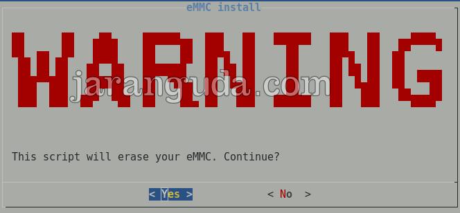 emmc install warning