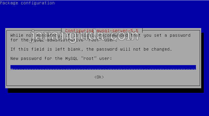 buat password root MySQL Debian 8