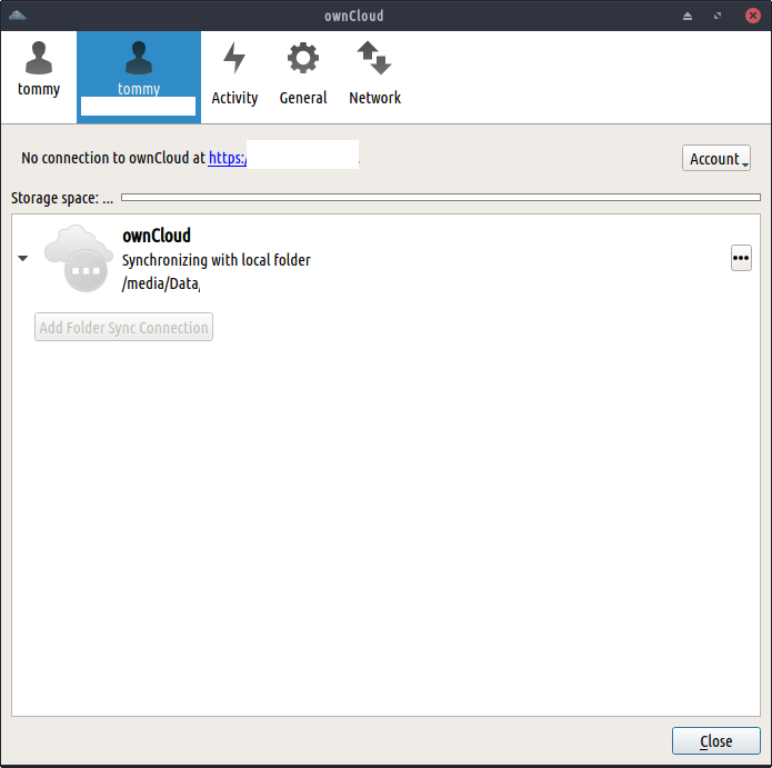owncloud no connection to owncloud