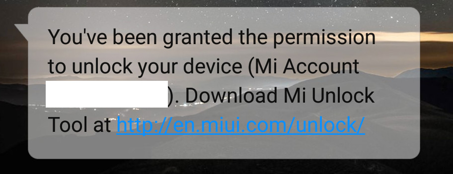 sms akun diapproved mi unlock