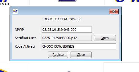 registrasi baru efaktur