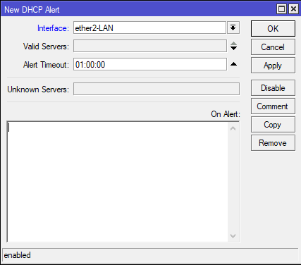 detect rogue dhcp server mikrotik