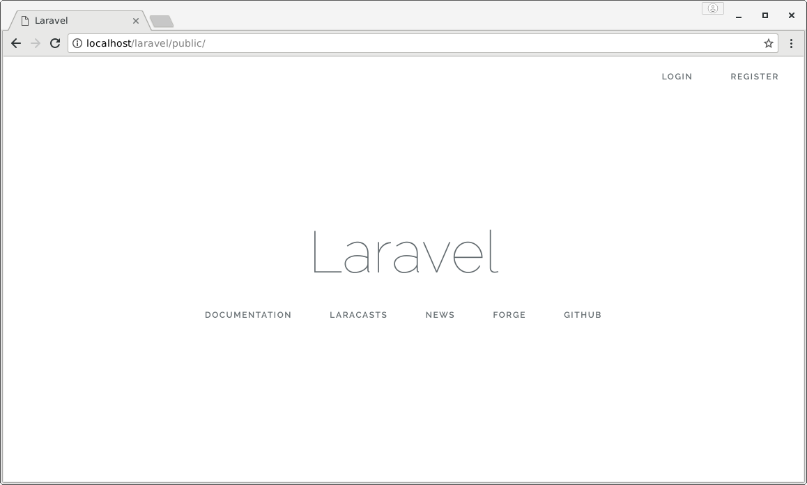 laravel new page
