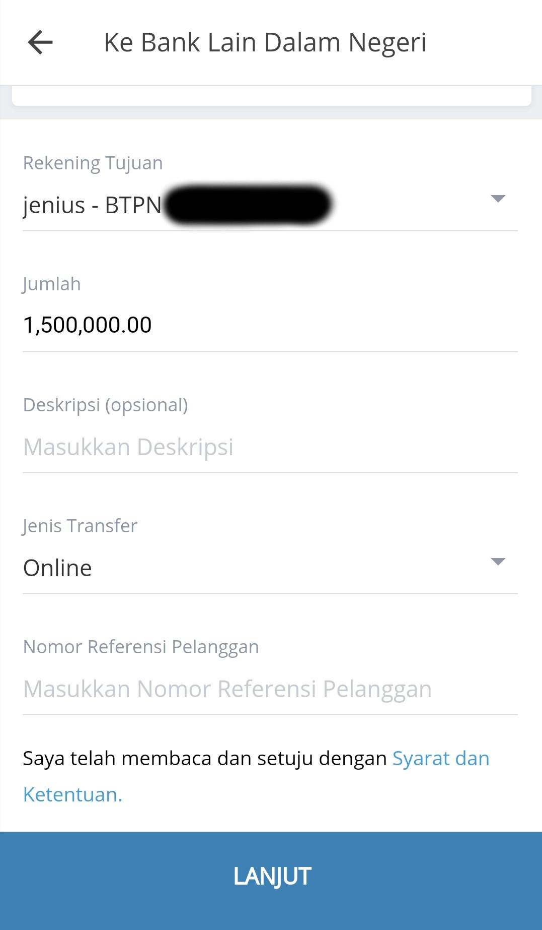input data transaksi