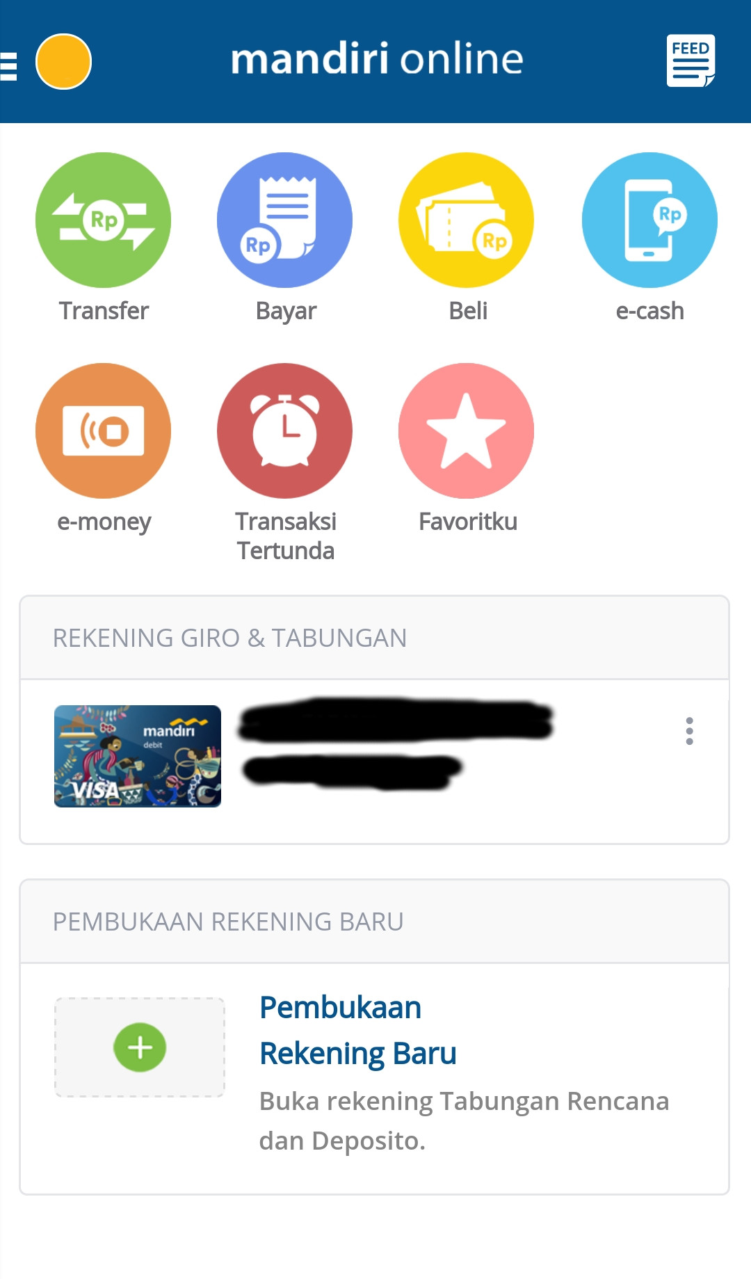 menu mandiri mobile