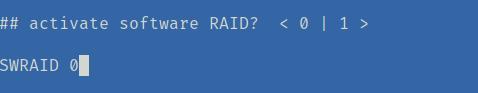 sofware raid tidak digunakan