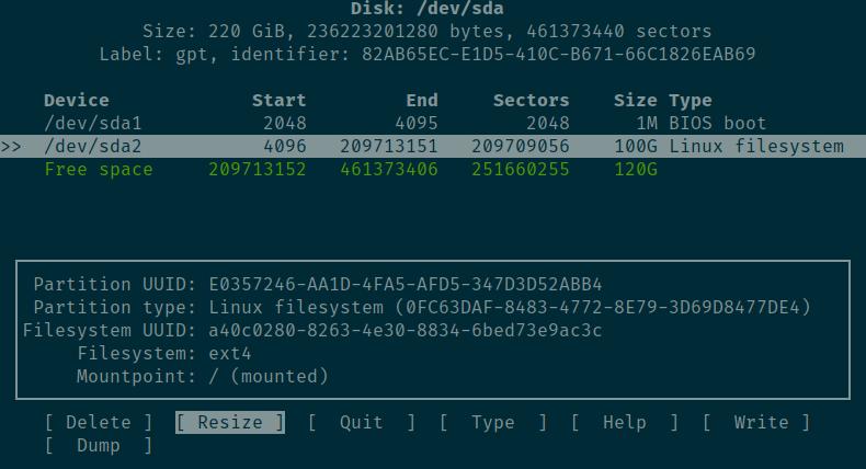 resize hardisk ubuntu kvm
