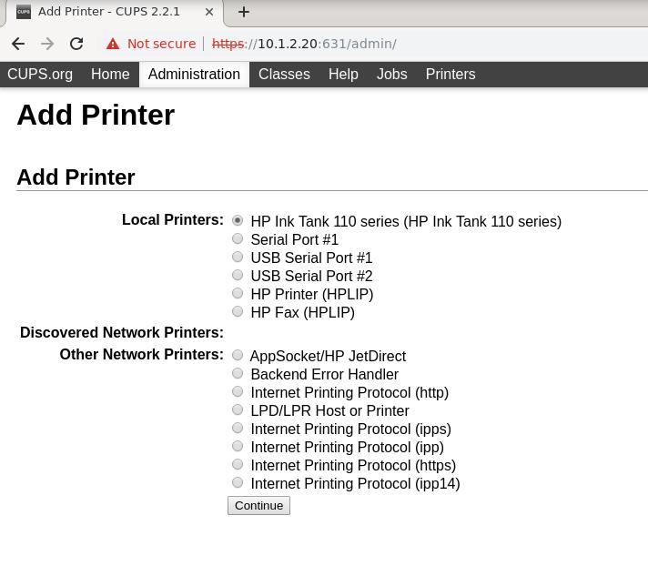 printer HP Inktank 315 terdeteksi linux