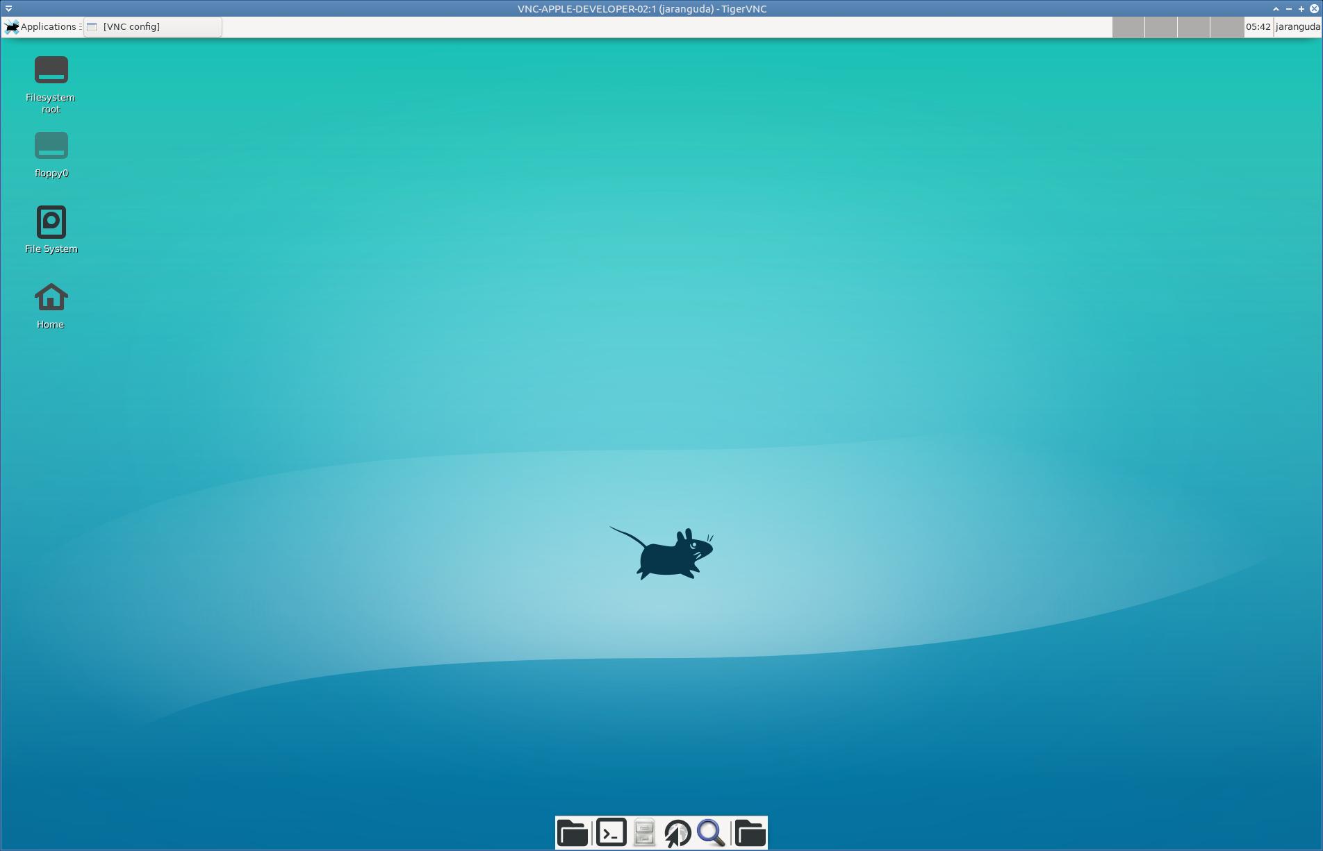 tampilan VNC XFCE4 Ubuntu 19.04