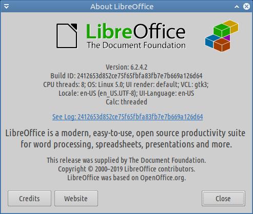 screenshot libreoffice 6.2.4.2