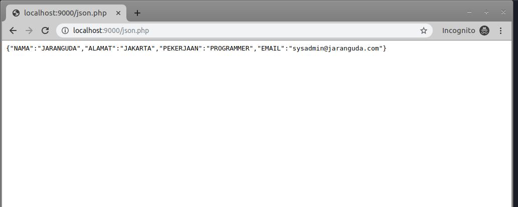 tampilan di browser