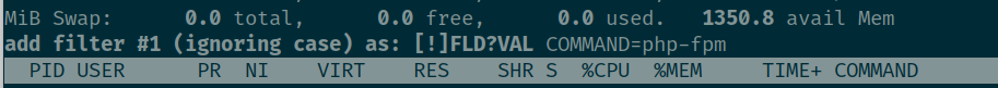 php fpm filter top