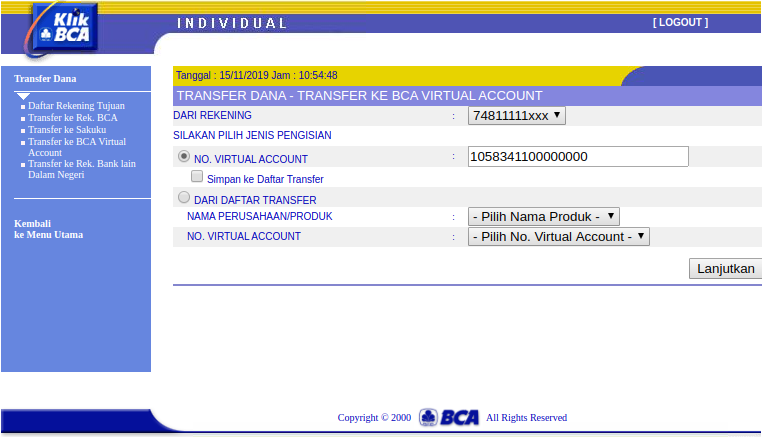 bca transfer ke virtual account