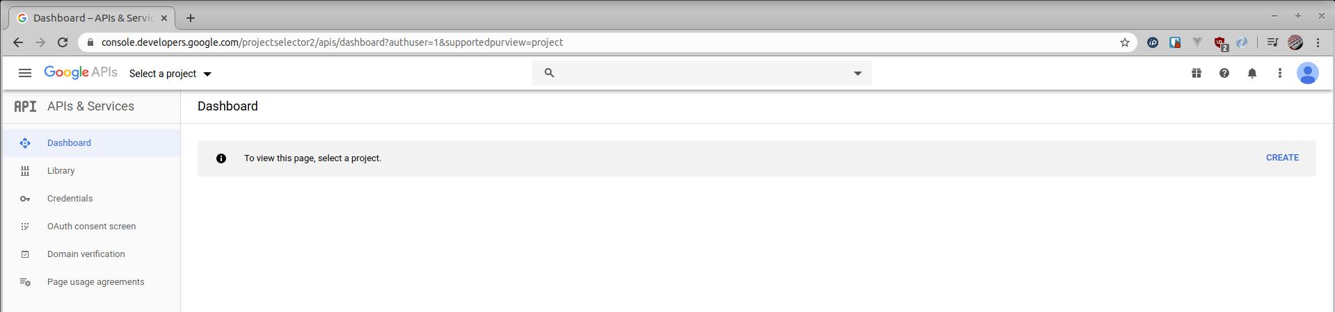 create new project google