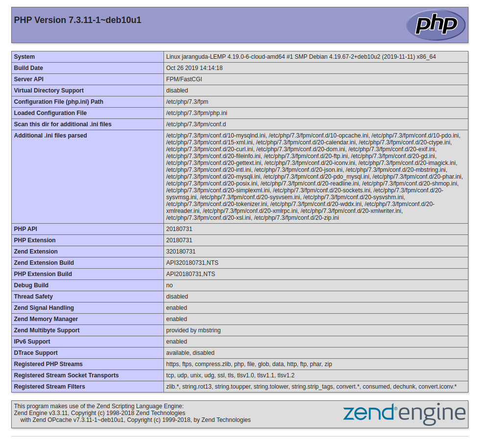 php info php7.3