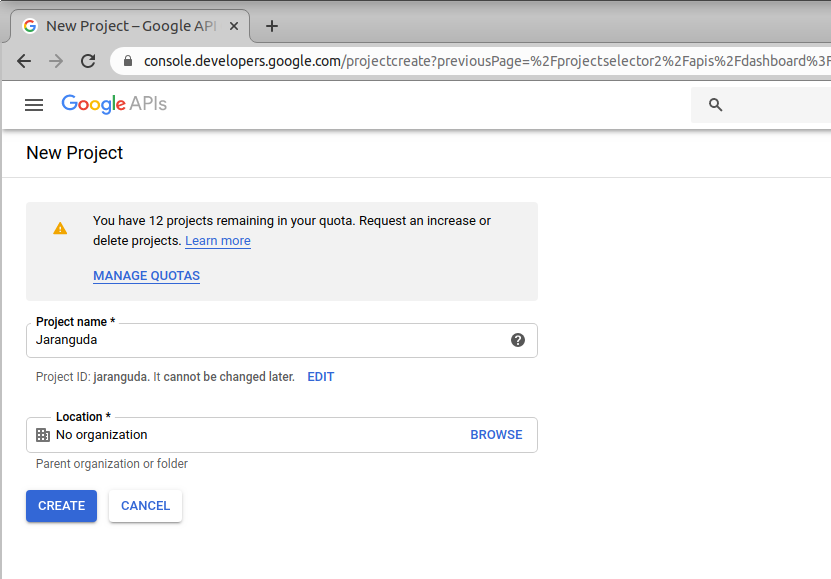 project name google