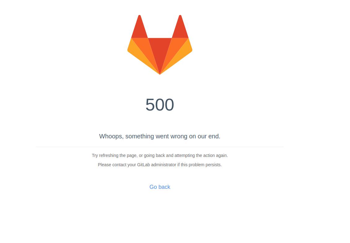 gitlab 500 error page