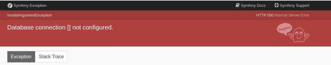 Lumen database error