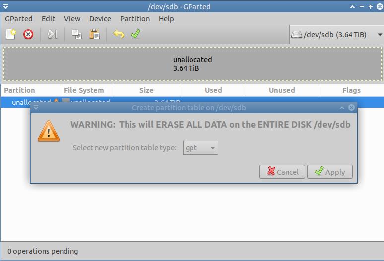 format hardisk warning
