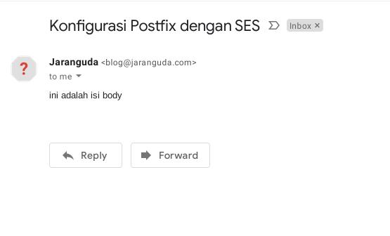 test kirim email ses postfix