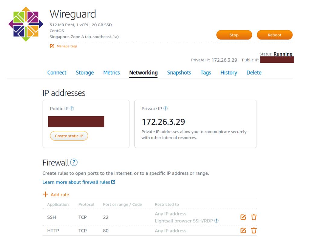 update firewall centos lightsail