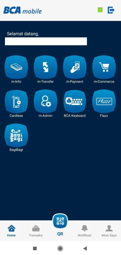 tampilan aplikasi mobile bca